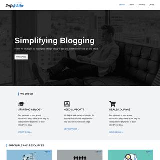 InfoPhilic - Simplifying blogging