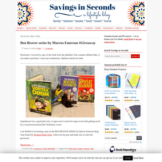 ArchiveBay.com - savingsinseconds.com - Savings in Seconds - A family lifestyle blog