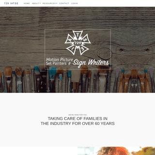 729 IATSE – Motion Picture Set Painters & Sign Writers