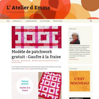 L' Atelier d Emma - Le blog de la boutique Au Fil d'Emma