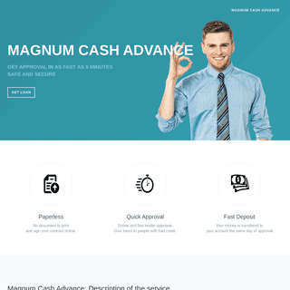 Magnum Cash Advance - Apply For Payday Loans Now!