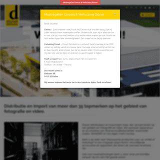 Distributie en import van meer dan 35 topmerken op het gebied van fotografie en video. - Disnet Distributors