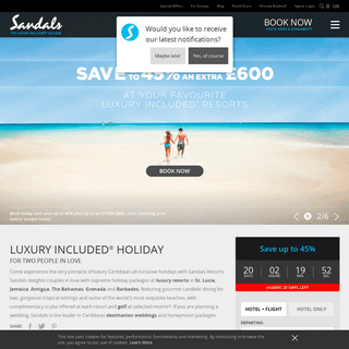 ArchiveBay.com - sandals.co.uk - Caribbean Beach Resorts & Holiday Packages - Sandals
