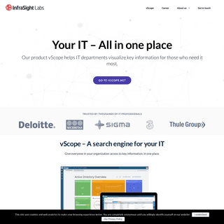 vScope by InfraSight Labs – Automatic inventory and analysis of the IT