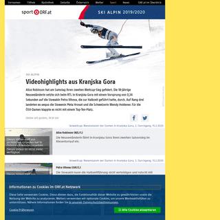 ArchiveBay.com - sport.orf.at/stories/3059611/ - Ski alpin- Videohighlights aus Kranjska Gora - sport.ORF.at