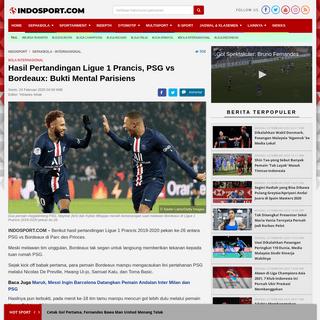 Hasil Pertandingan Ligue 1 PSG vs Bordeaux- Bukti Mental Parisiens - INDOSPORT