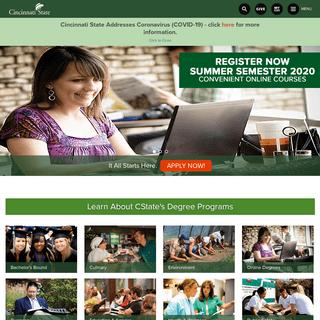 Cincinnati State - Degrees On Campus in Ohio & Online!