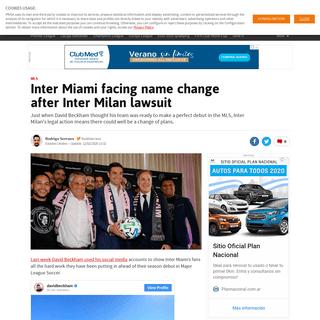 ArchiveBay.com - en.as.com/en/2020/02/12/football/1581464576_504240.html - MLS Inter Miami facing name change after Inter Milan lawsuit - AS.com