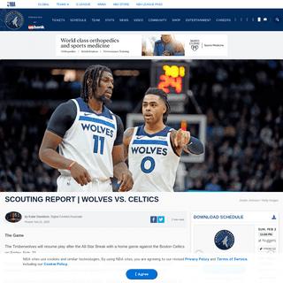ArchiveBay.com - www.nba.com/timberwolves/news/scouting-report-wolves-celtics-2-21-2020 - Scouting Report - Wolves vs. Celtics - Minnesota Timberwolves