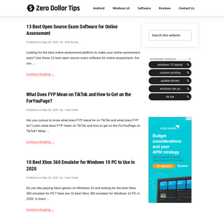 Zero Dollar Tips - Android and Windows 10 Tutorials