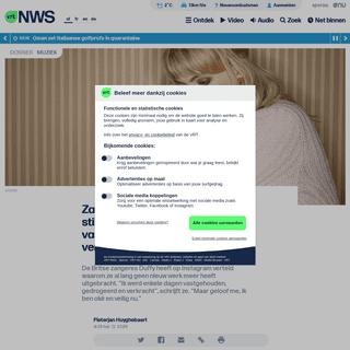 Zangeres Duffy doorbreekt de stilte- -Ik werd enkele dagen vastgehouden, gedrogeerd en verkracht- - VRT NWS- nieuws