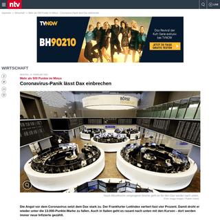 ArchiveBay.com - www.n-tv.de/wirtschaft/Coronavirus-Panik-laesst-Dax-einbrechen-article21597152.html - Mehr als 500 Punkte im Minus- Coronavirus-Panik lässt Dax einbrechen - n-tv.de