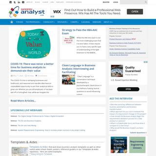 Business Analyst-Business Analysis Community & Resources - Modern Analyst