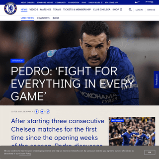 Pedro- 'Fight for everything in every game' - Official Site - Chelsea Football Club