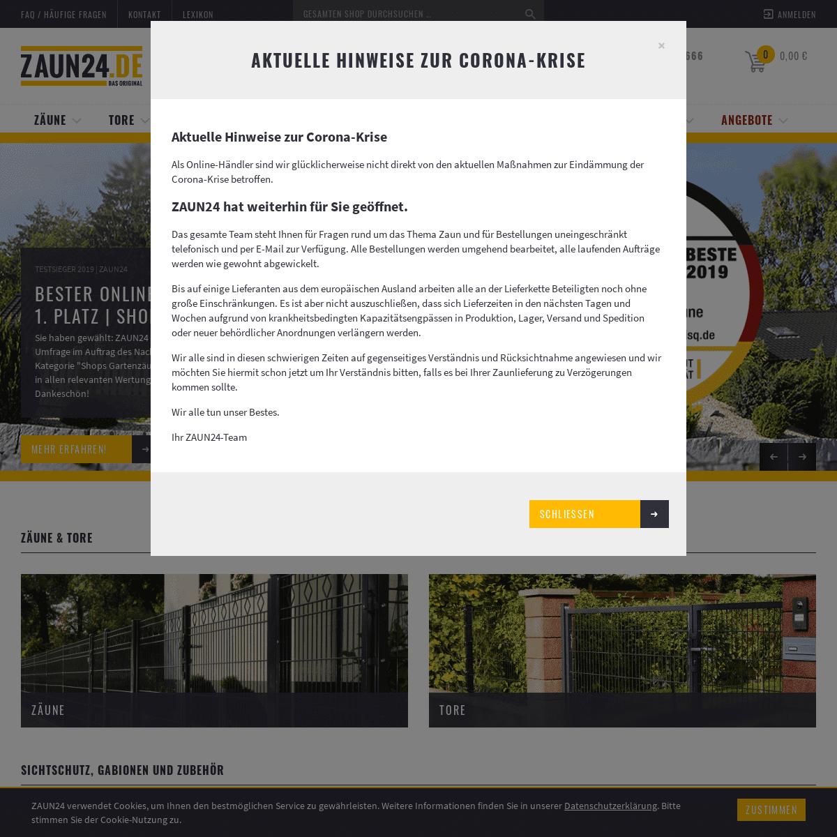 Zäune und Gartentore online kaufen bei ZAUN24.de