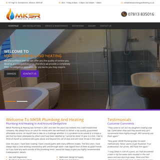 MKSR Plumbing And Heating - Gas Services And Bathroom Installation