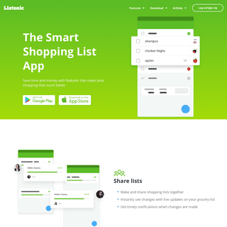 ArchiveBay.com - listonic.com - The Smart Shopping List App for Android, IOS, Online - Listonic