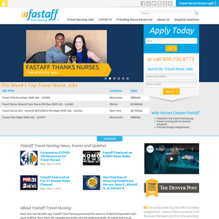 High Pay Travel Nursing Jobs - Fastaff Travel Nurse Staffing Agency
