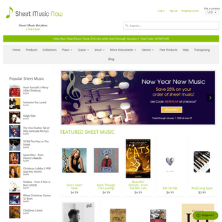 Sheet Music Now Sheet Music - Download Printable, Digital Sheet Music Online