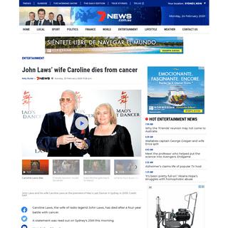 ArchiveBay.com - 7news.com.au/entertainment/john-laws-wife-caroline-dies-from-cancer-c-712893 - John Laws' wife Caroline dies from cancer - 7NEWS.com.au