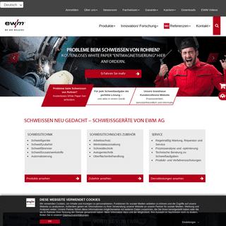 Schweißgeräte, Schweißtechnik, Schweißbrenner - EWM AG