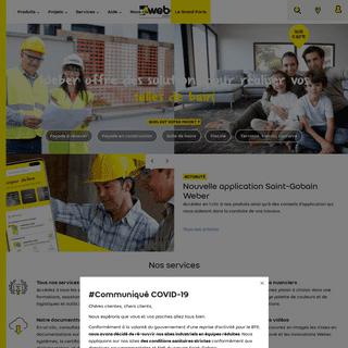 Façades, sols, carrelage, ITE - Construction et rénovation - Weber