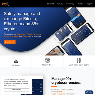 Jaxx Liberty- Secure Blockchain Wallet, Exchange and Portfolio