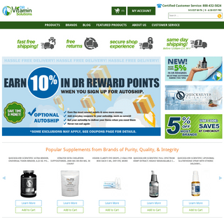 Welcome to DR Vitamin Solutions - Home - Trusted Supplement Brands