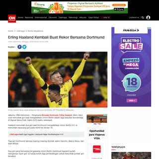 Erling Haaland Kembali Buat Rekor Bersama Dortmund