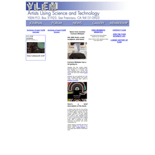 YLEM - Artists Using Science & Technology