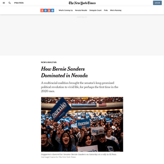 How Bernie Sanders Dominated in Nevada - The New York Times