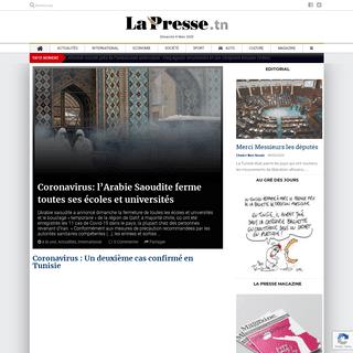 Accueil - La Presse de Tunisie