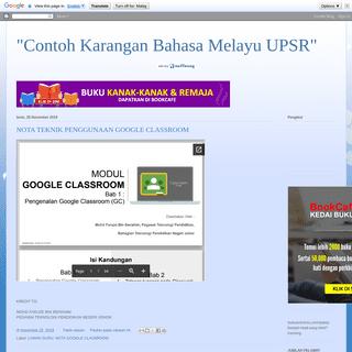 -Contoh Karangan Bahasa Melayu UPSR-