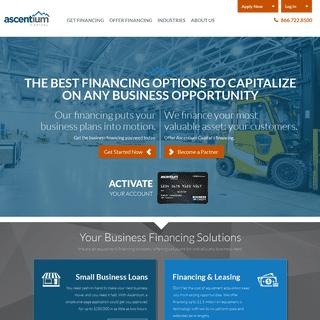 Equipment Financing Company - Leasing & Capital Loans - Ascentium Capital