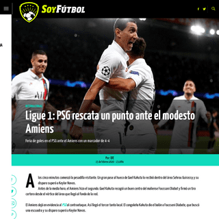 ArchiveBay.com - www.soyfutbol.com/internacional/Ligue-1-PSG-rescata-un-punto-ante-el-modesto-Amiens-20200215-0026.html - Ligue 1- PSG rescata un punto ante el modesto Amiens - Soy Fútbol