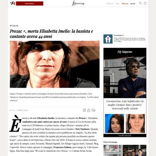 Prozac +, morta Elisabetta Imelio- la bassista e cantante aveva 44 anni - Il Fatto Quotidiano
