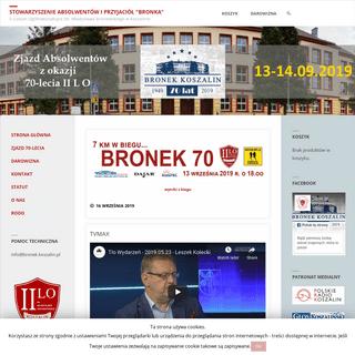 Stowarzyszenie Absolwentów i Przyjaciół -Bronka- – II Liceum Ogólnokształcące im. Władysława Broniewskiego w Koszalini