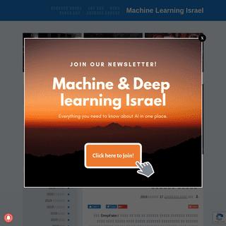 Machine Learning Israel - המקום בו מכונות ובני אדם נפגשים.