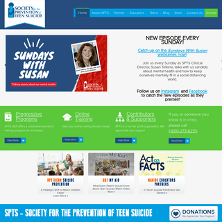 The Society for the Prevention of Teen Suicide - Teen Suicide Prevention