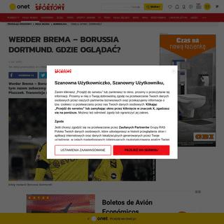 Werder Brema – Borussia Dortmund- o której mecz- Transmisja w tv online live stream - Bundesliga