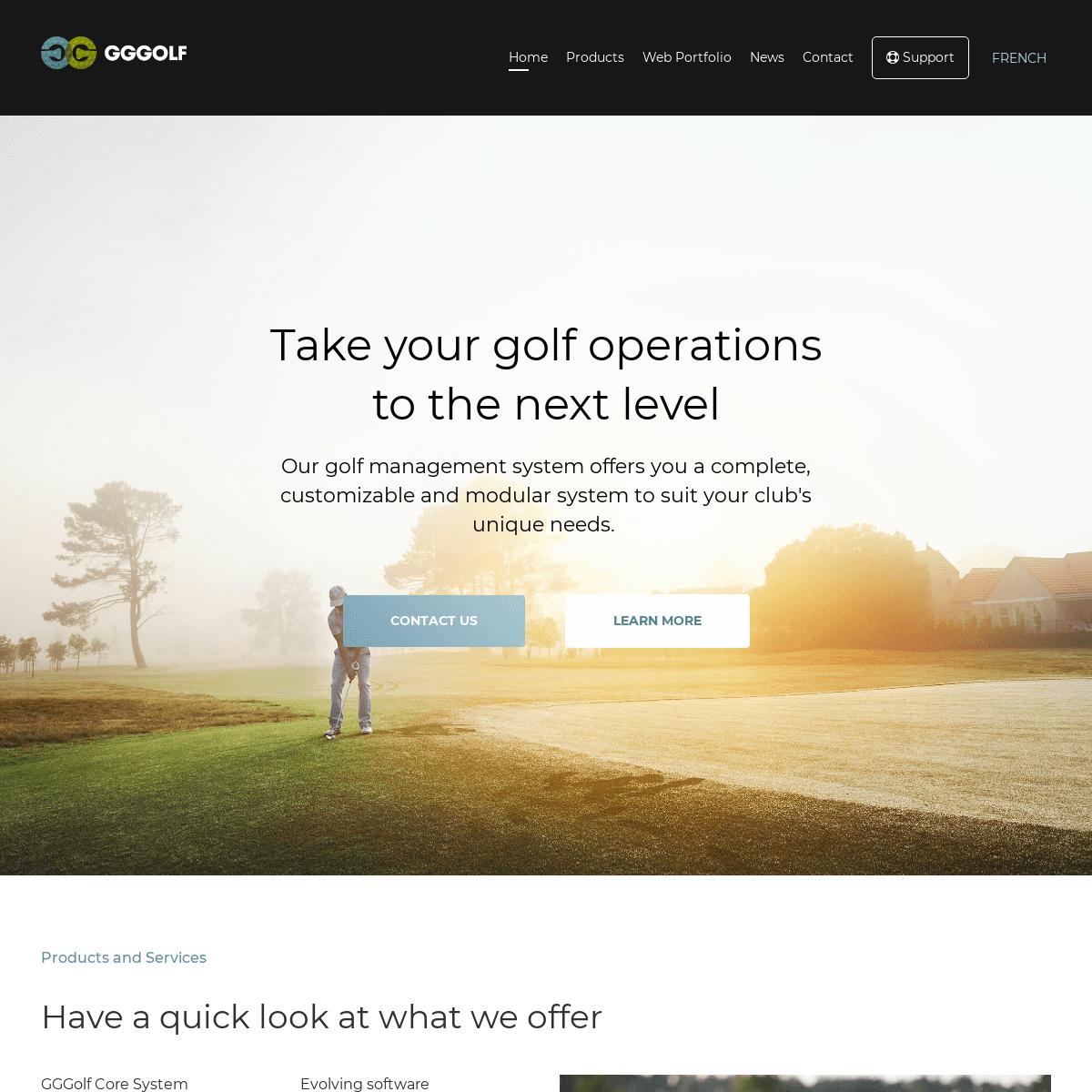Home - GGGolf - Golf Management System
