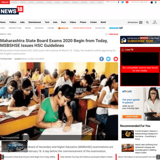 ArchiveBay.com - www.news18.com/news/india/maharashtra-state-board-exams-2020-begins-from-today-msbshse-issues-hsc-guidelines-2504807.html - Maharashtra State Board Exams 2020 Begin from Today, MSBSHSE Issues HSC Guidelines - News18