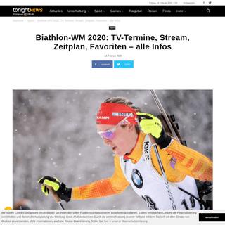Biathlon-WM 2020- TV-Termine, Zeitplan, Favoriten, Stream – die Infos