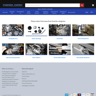 TDI Timing Belt, MK4 Shifter bushings, P2015 Repair Kits, Skid Plates– www.dieselgeek.com