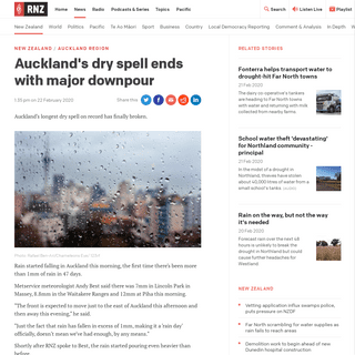 ArchiveBay.com - www.rnz.co.nz/news/national/410114/auckland-s-dry-spell-ends-with-major-downpour - Auckland's dry spell ends with major downpour - RNZ News