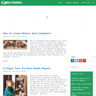 FamilyNano - Writing about food, drink, baking & recipes