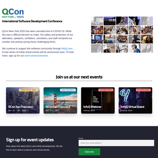 Software Architecture Conference - QCon New York