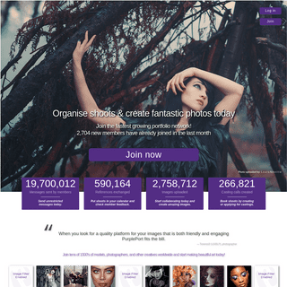 PurplePort - Free online portfolios and networking for Models, Photographers and Creatives