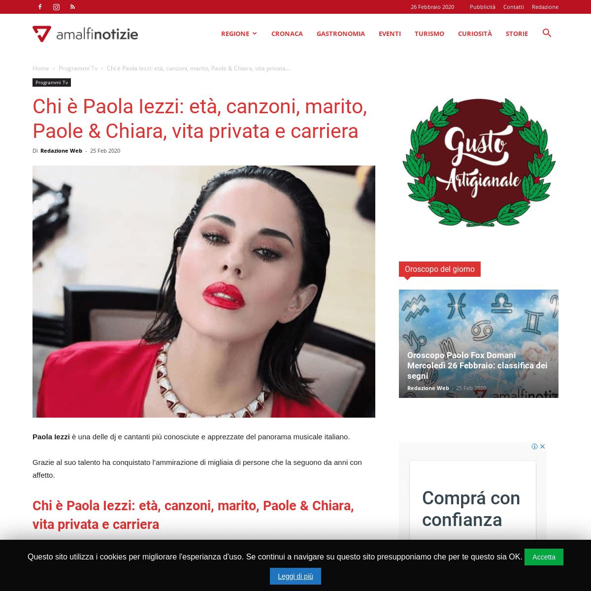 Chi è Paola Iezzi- età, canzoni, marito, Paole & Chiara, vita privata e carriera