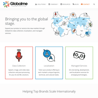Globalme - Data & Localization Services for Emerging Technologies